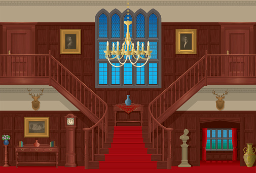 Entrance hall clipart.
