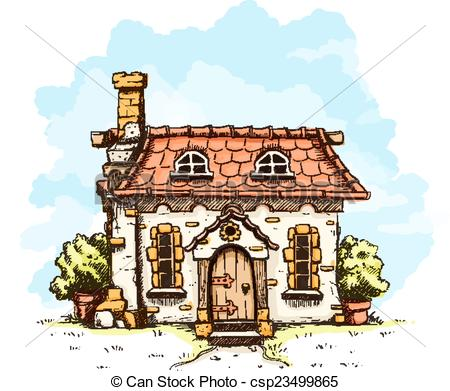Clip Art Vector of Entrance in old fairy.