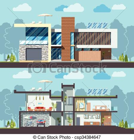 House facade clipart clipground for Modern house clipart