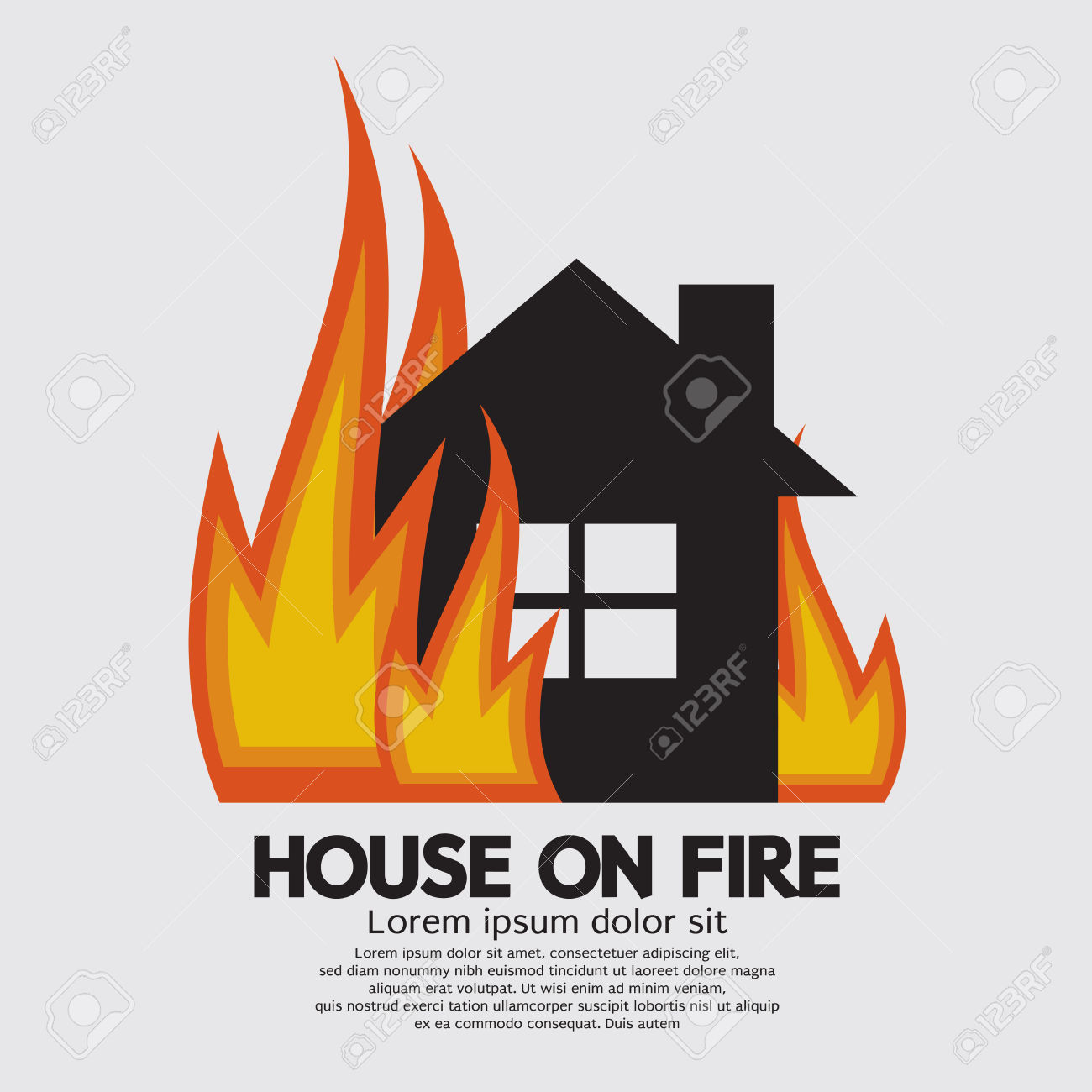 64+ House On Fire Clipart.