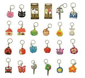 Cute Keycap/ Keyring (Pussy Cat, Dog, Piglet, Flower, Beetle Car.
