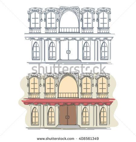 France Urban Sketch Paris Parvis Notredame Stock Vector 353020808.