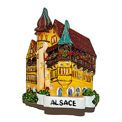 Fridge Magnet: France. Alsace. House.