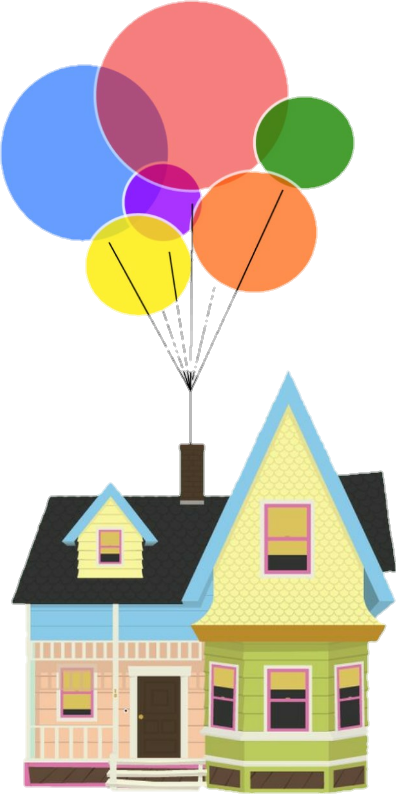 up house with balloons clipart #1.