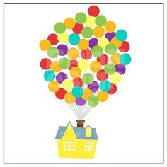 Balloons clipart house, Balloons house Transparent FREE for.