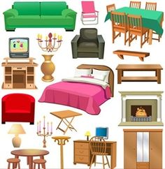 a variety of furniture clip art.