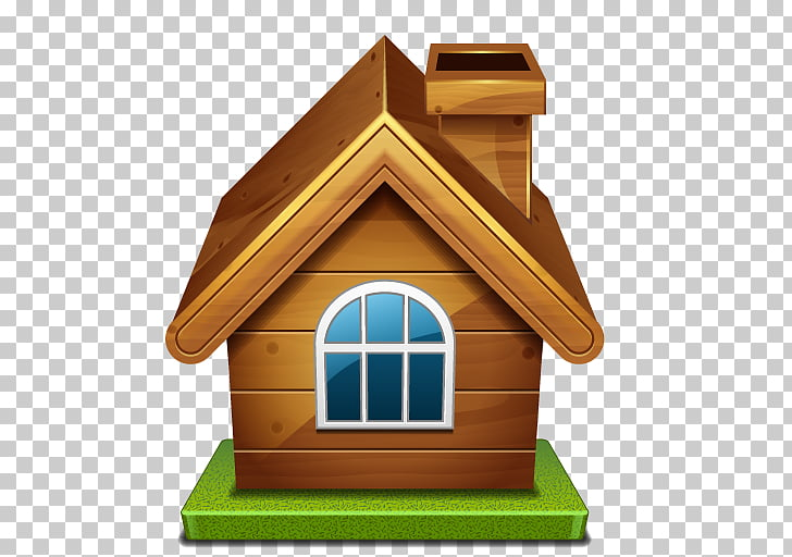 House Home Icon, Wooden House HD PNG clipart.