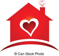 House With Heart Clipart.