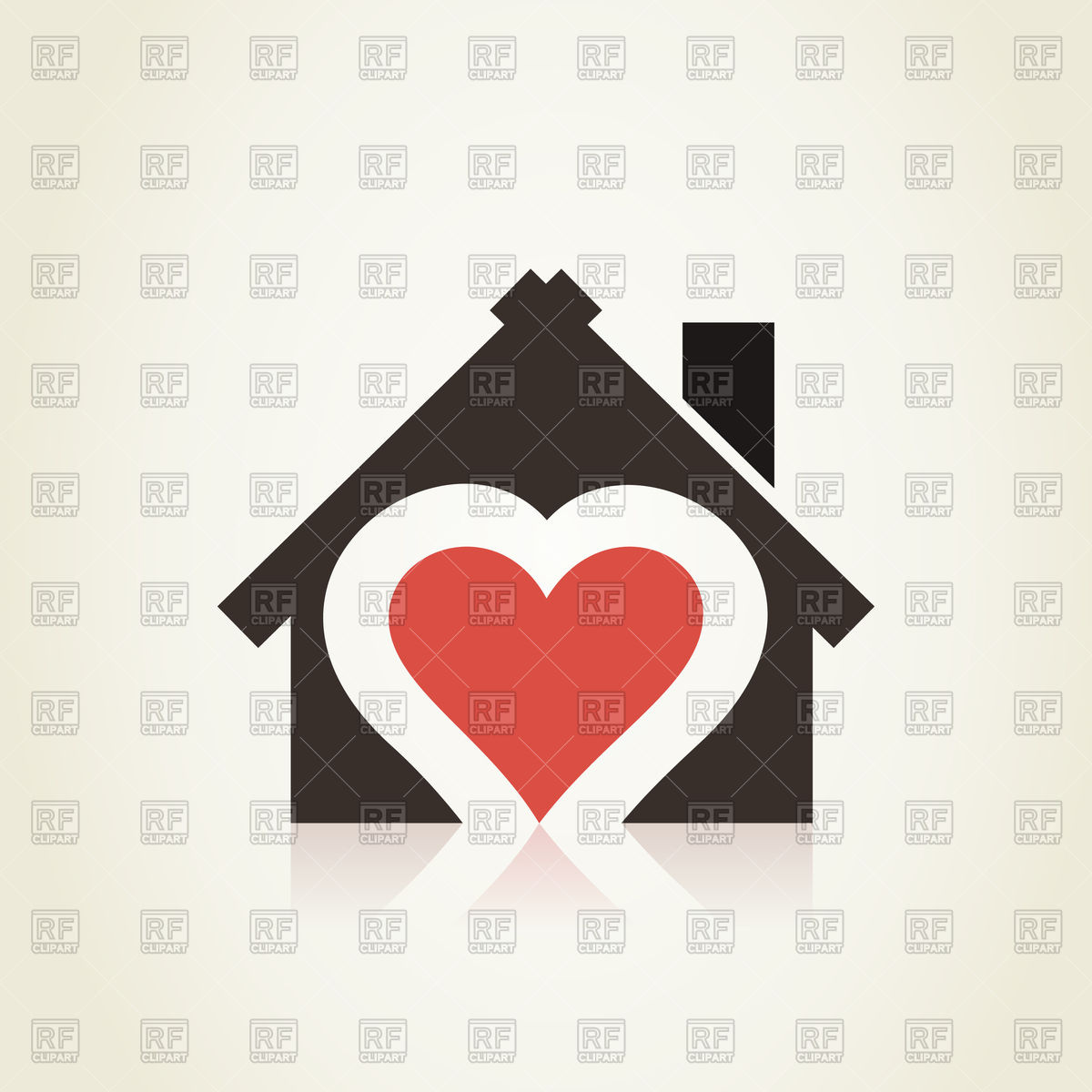 Heart in house icon Vector Image #80416.