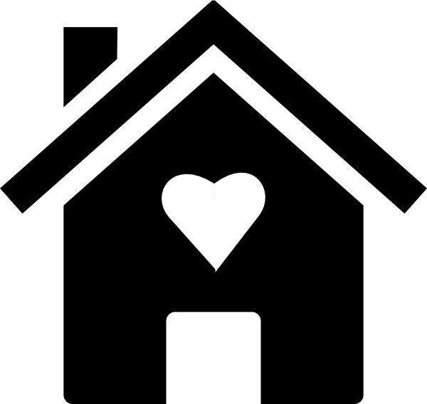 House With A Heart Clipart.