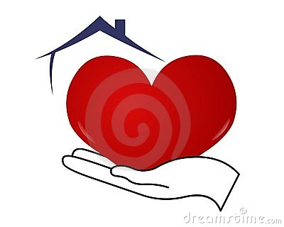 Heart On Hand With Roof Royalty Free Stock Photos.