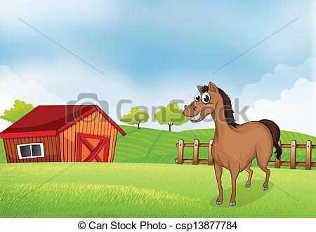 Horse house clipart.