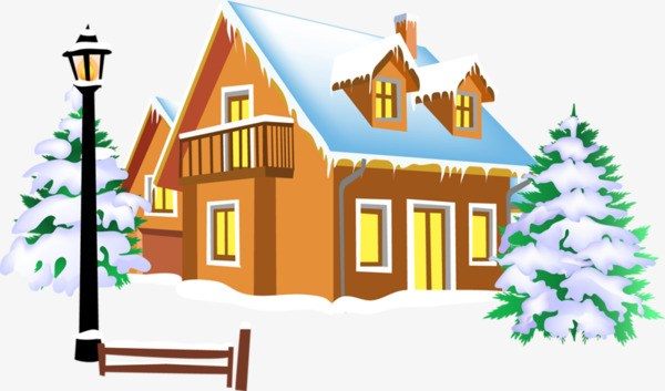 House with snow clipart 3 » Clipart Portal.