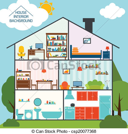 House Interior Background Clipart.