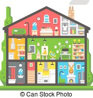 Home interior Vector Clipart Illustrations. 39,143 Home interior.