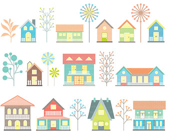Beach house clipart.