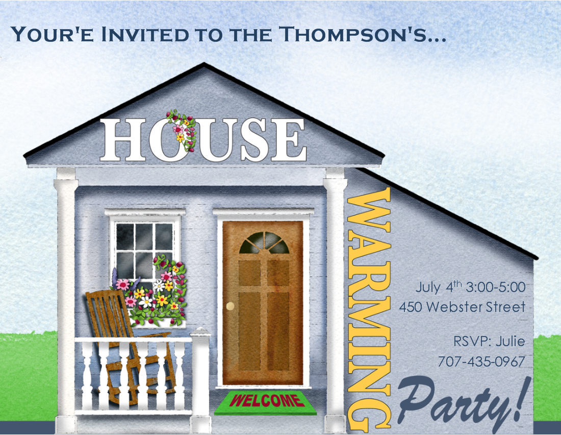 Housewarming Invitation Clipart.