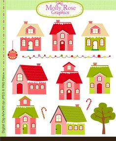House clipart commercial use, vector graphics, digital clip art.