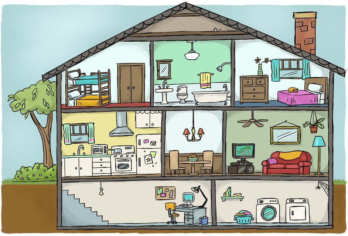 Rooms House Clipart Clipartxtras.