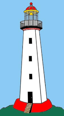 Blue Light House Clipart.