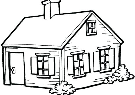 Simple Line Drawing Of A House at PaintingValley.com.