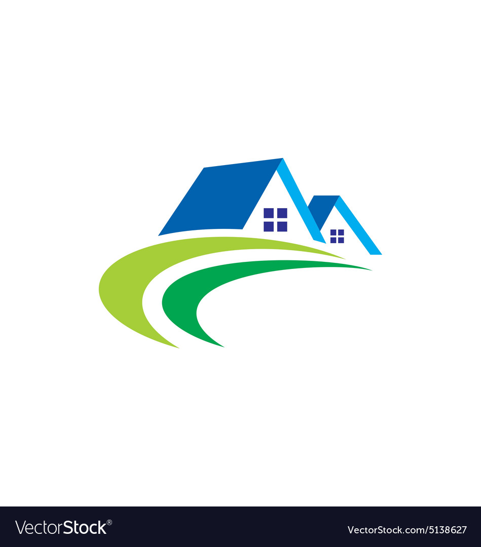 House realty abstract construction logo.