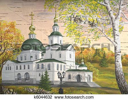 Clip Art of Danilov Monastery, Moscow, Russia k6044632.