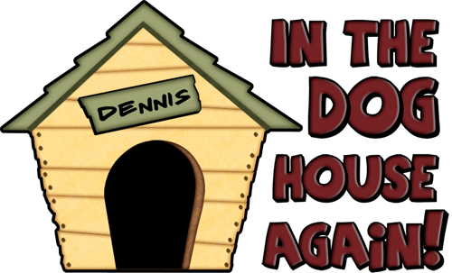 Dennis Name Dog House Clipart.