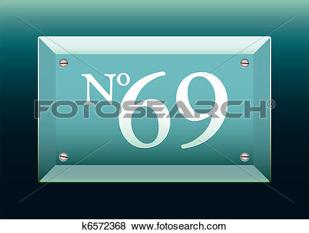 Clip Art of Glass house name sign k6572368.