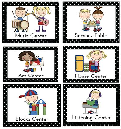 Basic shapes house name tags for preschool clipart.