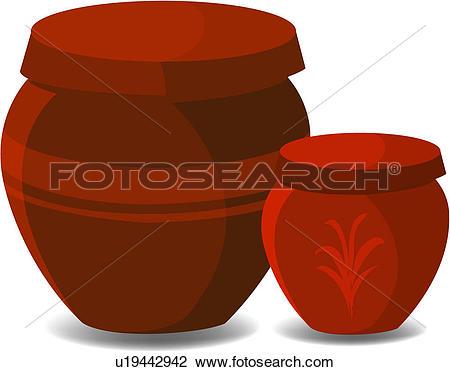 Clipart of korea culture, tradition, pot, jar, house item, korea.