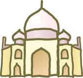 Clip Art of foreign culture, Nepalese culture, house u10671328.