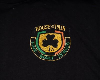 VINTAGE BRAND NEW House of Pain Embroidered Logo XL T.
