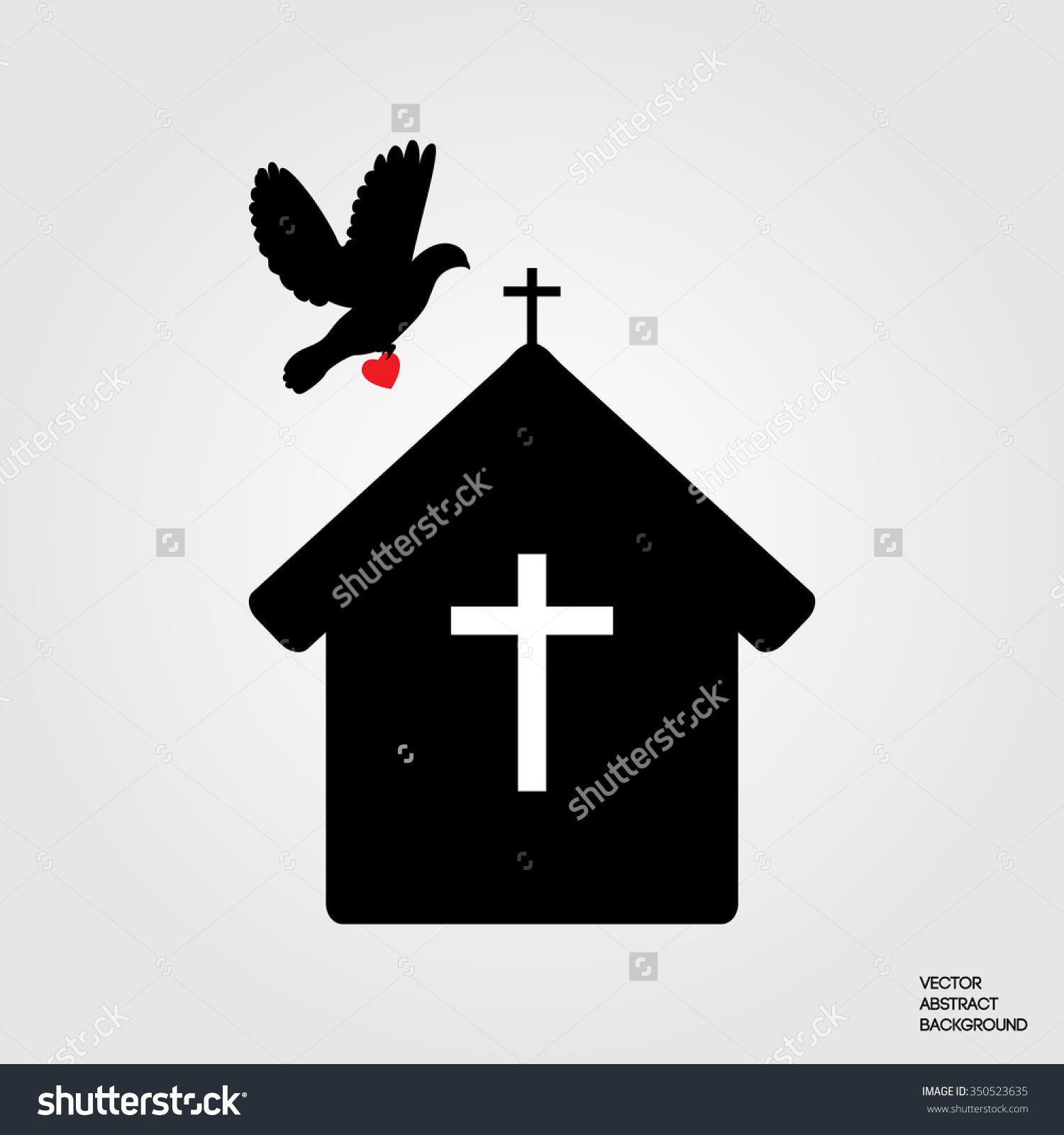 Clip Art of House of Prayer.