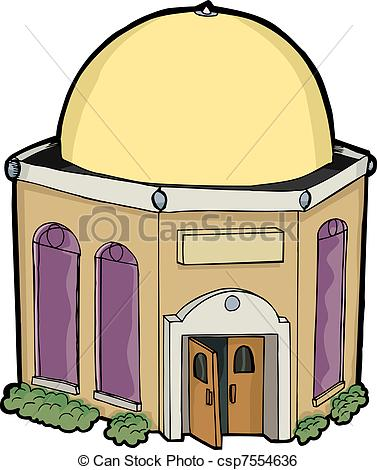 Clip Art Vector of Little House of Worship.