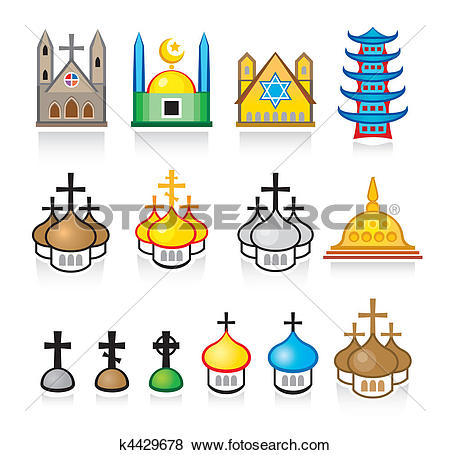 House worship Clip Art Vector Graphics. 717 house worship EPS.