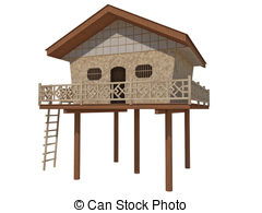 Stilt house Illustrations and Clipart. 46 Stilt house royalty free.