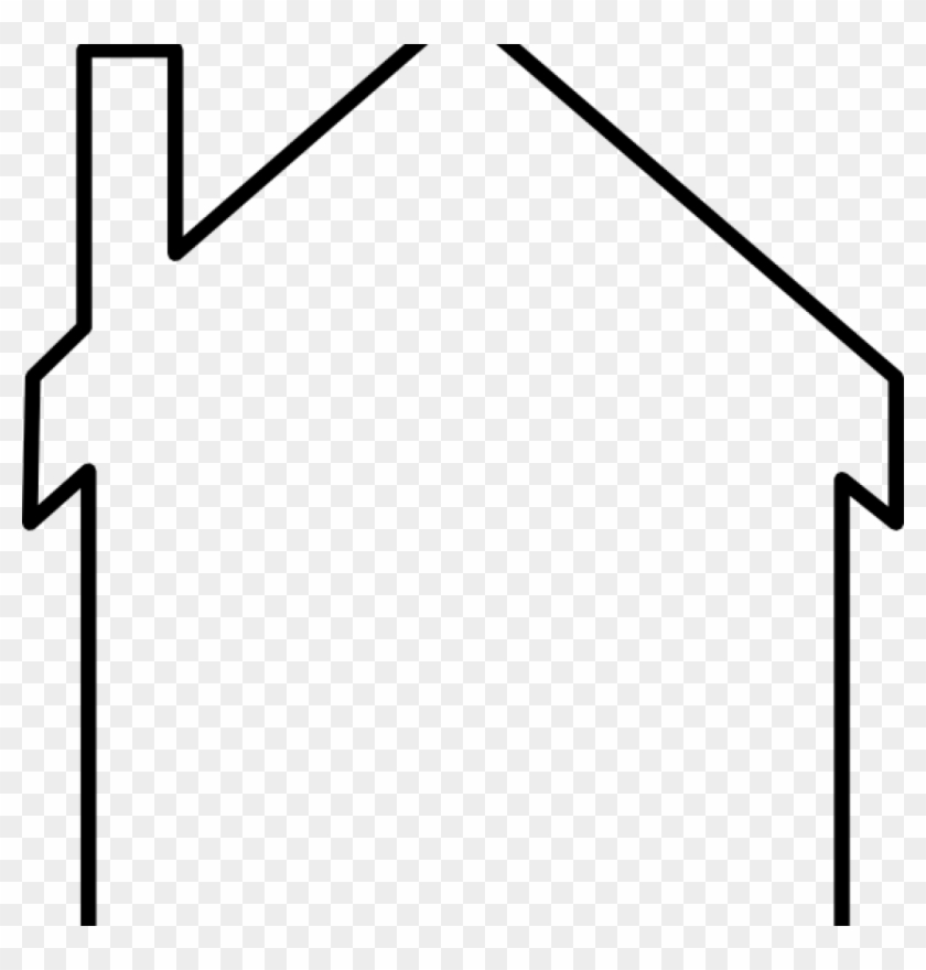 House Outline Clipart Black And White Panda Free History.