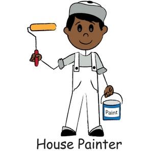 House Painter Clipart.