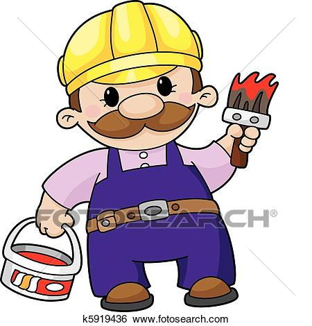 House painter Clip Art.