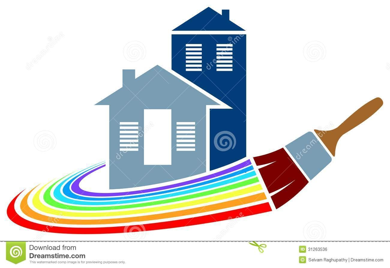 Painting of House Clip Art Free.