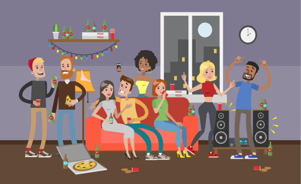 Best House Party Illustrations, Royalty.