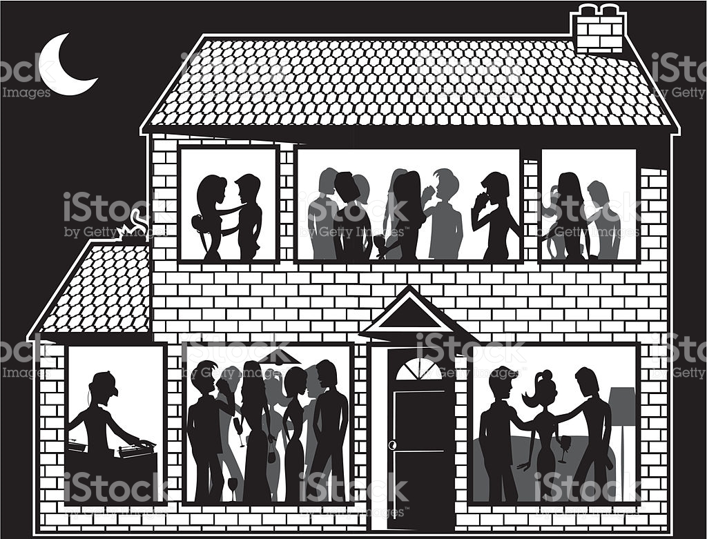 House Party stock vector art 455344021.