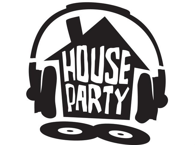 House party font / sign ideas.