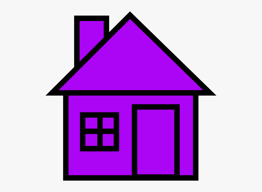 Purple House Clip Art.