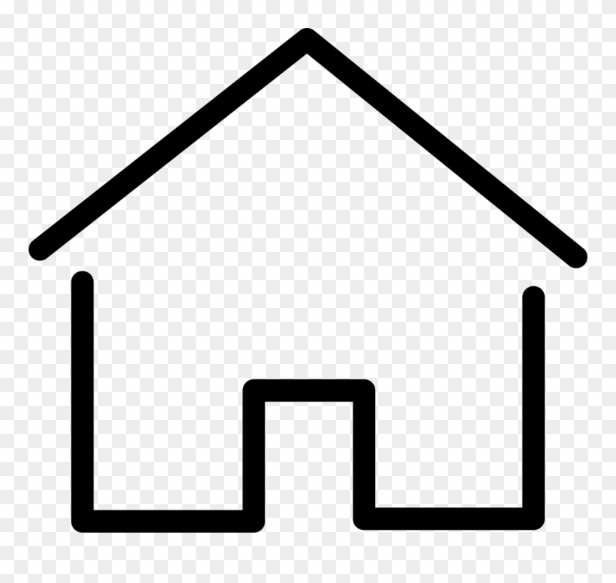 Simple House Thin Svg Png Icon Free Download.