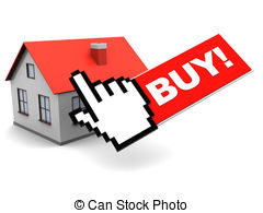 Buying a house clipart.