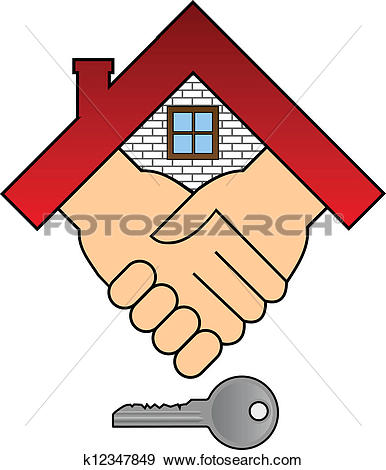 Clip Art of Buying a house.