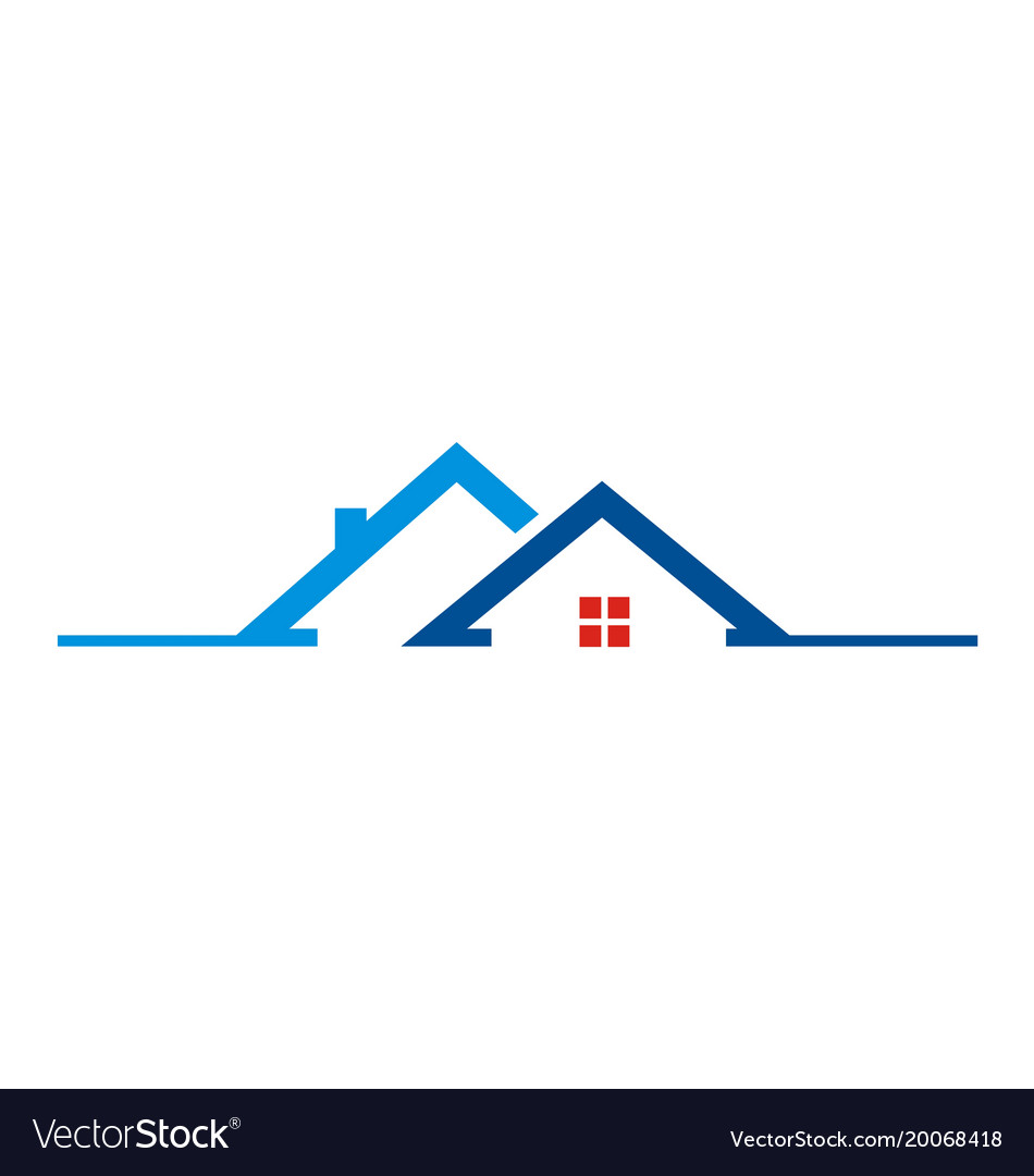 House roof building logo.