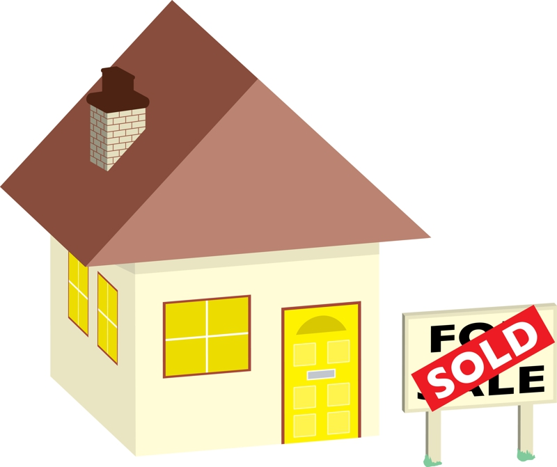 Clipart house for sale.